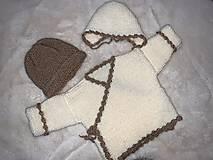 Detské oblečenie - Svetrík + čepček - 12935376_
