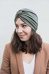 Čiapky, čelenky, klobúky - Prekrížený Turban (Army) - 12933111_