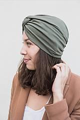 Čiapky, čelenky, klobúky - Prekrížený Turban (Army) - 12933112_