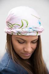 Šatky - Ružová Kvetovaná Hodvábna Šatka - 12933632_