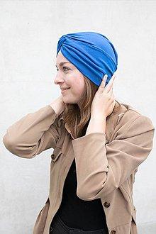 Čiapky - Prekrížený Turban (Modrý) - 12933157_