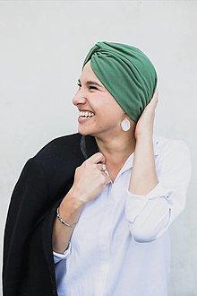 Čiapky - Prekrížený Turban (Zelený) - 12933160_