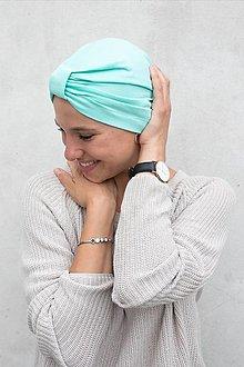Čiapky - Klasický Turban (Mätový) - 12933264_