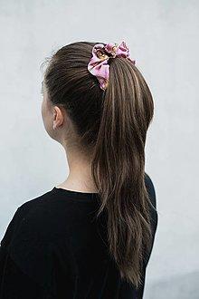 Ozdoby do vlasov - Gumička (Rose-pink) - 12933683_