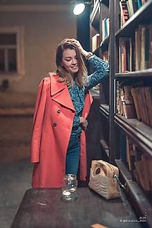 Kabáty - Vlnený kabát - červený - 12932951_