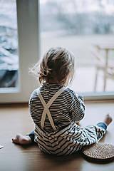 Detské oblečenie - Pásikavé lacláče - 12931884_