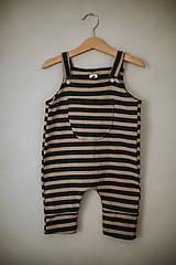 Detské oblečenie - Lacláče v zemitých farbách - 12932187_