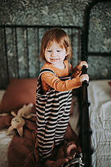 Detské oblečenie - Lacláče v zemitých farbách - 12932195_