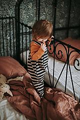 Detské oblečenie - Lacláče v zemitých farbách - 12932196_