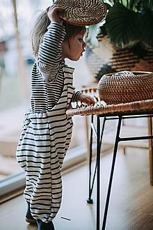 Detské oblečenie - Pásikavé lacláče - 12931885_