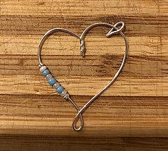 Iné šperky - Srdce s nádychom neba - 12931364_