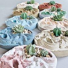 Dekorácie - Dekorácia s betónovými kaktusmi Terén 2 - 12931974_