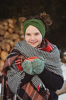 Ozdoby do vlasov - zelenkavo-pre dospelých - 12932696_