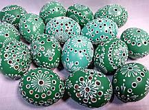 Dekorácie - Slepačia kraslica madeirová modrá, zelená - 12931293_