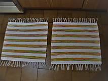 Úžitkový textil - Tkané koberce do kúpeľne - 12930618_