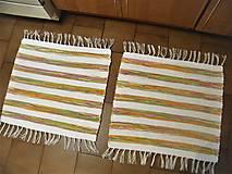 Úžitkový textil - Tkané koberce do kúpeľne - 12930632_