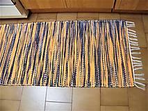 Úžitkový textil - Tkaný koberec čierno-oranžovo-biely - 12934251_