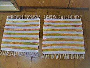 Úžitkový textil - Tkané koberce do kúpeľne - 12934232_