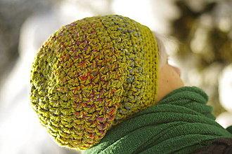 Čiapky - farebnica zelená:) čiapka - 12937335_