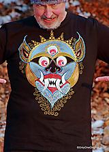 Tričká - Pánske tričko maľované MAHAKALA (OCHRANCA) - 12936469_