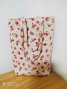 """Veľké tašky - Taška """" RŮŽIČKY"""" - 12937054_"""