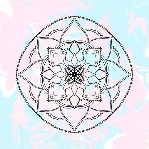 """Ilustrácia """" Mandala"""""""