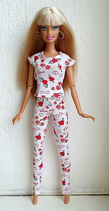 Hračky - Srdiečkové legíny pre Barbie - 12940458_