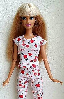 Hračky - Srdiečkové tričko pre Barbie - 12940465_