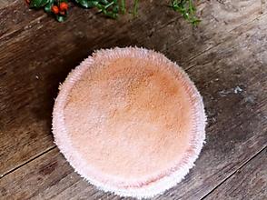 Úžitkový textil - KOZMETICKÝ TAMPONIK růžovo krémový - 12936688_
