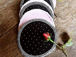Úžitkový textil - Čierne bodky tamponiky 10 ks Baranček - 12936781_