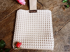 Úžitkový textil - Vaflový maxi kozmetický tampon - 12936821_