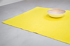 Úžitkový textil - Žltý,husto tkaný koberec Repka, 75 x 210 cm - 12935691_