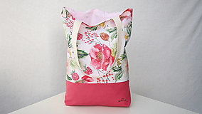 Nákupné tašky - Taška- malinová - 12937388_
