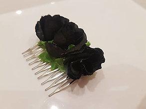 Ozdoby do vlasov - Trojitá kráska Black Rose - 12940743_