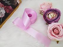 Galantéria - Saténová stuha 40 mm - ružovo fialová - 12935844_