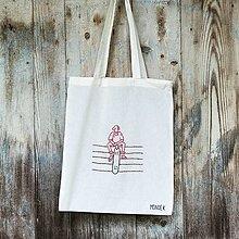 Nákupné tašky - Bavlnená taška - skater - 12939545_