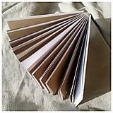 Papiernictvo - Fotoalbum hnedé a biele stránky - 12938555_