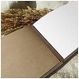 Papiernictvo - Fotoalbum hnedé a biele stránky - 12938579_