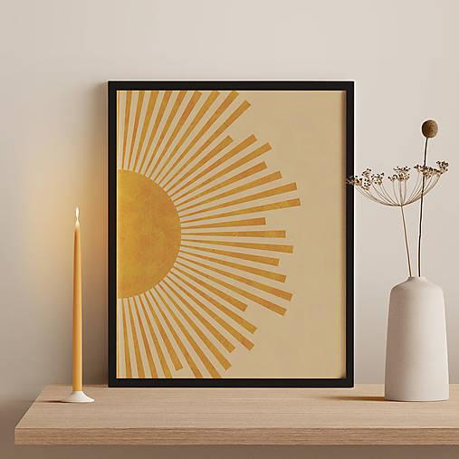 Grafika - Plagát so slnečnými lúčmi - 12940298_
