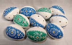 Dekorácie - Slepačia kraslica štvrtinková modrá, zelená - 12936278_