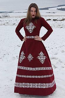 Šaty - Ručne maľované spoločenské šaty - 12936038_