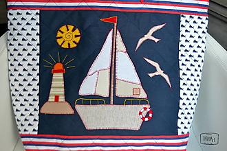 Veľké tašky - Taška s morským motívom - 12942636_