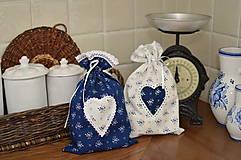 Úžitkový textil - Vrecúška z modrotlače - 12942272_