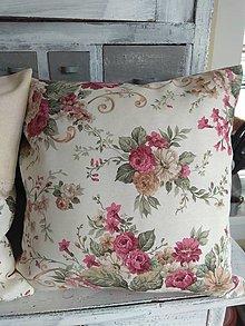 Úžitkový textil - Vankúš bordo ruže - 12943305_