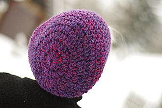 Čiapky - farebnica fialová:) čiapka - 12942994_