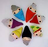 Hračky - Sada maňušiek na prst (Snehulienka /maňuška na ruku/ a sedem trpaslíkov) - 12942244_