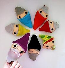 Hračky - Prstová maňuška človiečik (trpaslík - na výber) - 12941701_