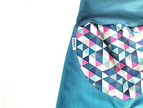 """Detské oblečenie - Softshellky jarné """"triangles"""" Limited edition - 12945213_"""