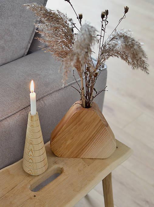 Dekorácie - Drevená váza 3 - 12941569_