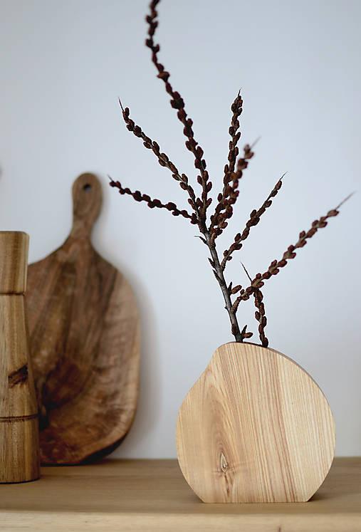 Dekorácie - drevená váza 4 - 12945190_